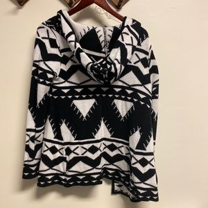 Forever 21. B&W Aztec cardigan with hood
